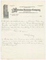 Caledonian Insurance Company, letter