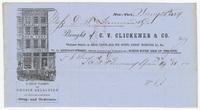 C. V. Clickener & Co., bill or receipt