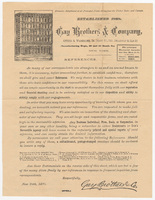 Gay Brothers & Company, letter