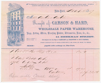 Carson & Hard, bill or receipt
