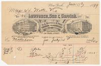 Lawrence, Son & Cerrish, bill or receipt