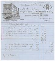 John G. McMurray & Co., bill or receipt