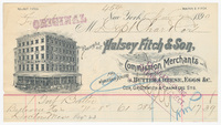 Halsey Fitch & Son, bill or receipt