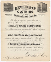 D. Devlin & Company, bill or receipt