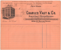 Charles Vagt & Co. Bill or receipt
