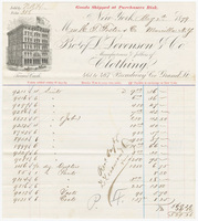 L. Levenson & Co., bill or receipt