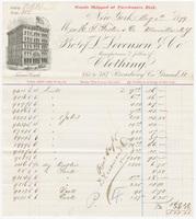L. Levenson & Co., bill or receipt
