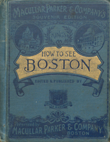 King's how to see Boston : a trustworthy guide-book. Cover.