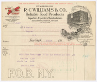 R. C. Williams & Co., bill or receipt