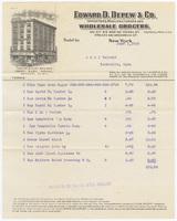 Edward D. Depew & Co., bill or receipt
