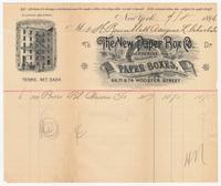 New Paper Box Co. Bill or receipt