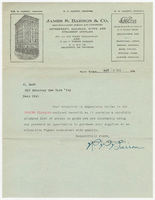James S. Barron & Co. Letter