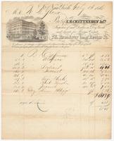 S. B. Chittenden & Co., bill or receipt