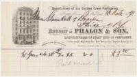 Phalon & Son. Bill or receipt
