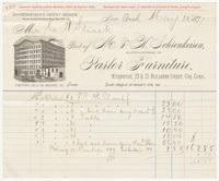 M. & H. Schrenkeisen, bill or receipt