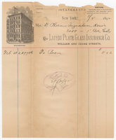 Lloyds Plate Glass Insurance Co. Bill or receipt