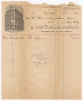 Lloyds Plate Glass Insurance Co. Bill or receipt