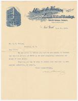 Mason & Hanson, letter