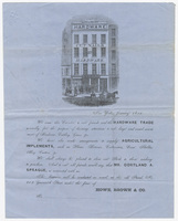 Howe, Brown & Co., letter