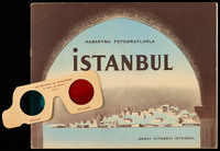 Istanbul : kabartma fotograflarla. Cover of book with glasses next to it