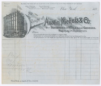 Austin, Nichols & Co., bill or receipt