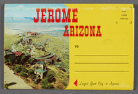 Jerome Arizona: largest ghost city in America. Recto of souvenir booklet cover