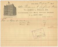 James L. Wells. Bill or receipt