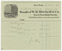 W.R. Mitchell & Co., bill or receipt