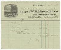W.R. Mitchell & Co., bill or receipt