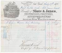 Slote & Janes, bill or receipt