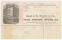 B. Fischer & Co., bill or receipt
