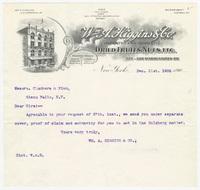 Wm A. Higgins & Co., letter