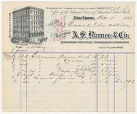 A.S. Barnes & Co. Bill or receipt