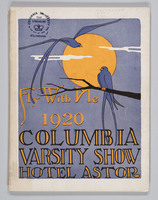 Fly With Me, 1920 Columbia Varsity Show, Cover of Program