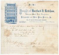 Hosford & Ketcham. Bill or receipt