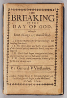 Breaking of the day of God.  Title page