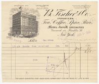 B. Fischer & Co., Inc., bill or receipt