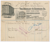 The Bradley & Currier Co., bill or receipt