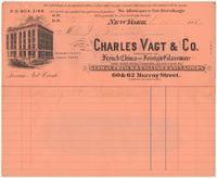 Charles Vagt & Co. Bill or receipt