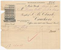 S. B. Clark, bill or receipt