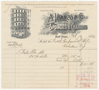 A. Isaacs & Co., bill or receipt