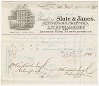 Slote & Janes, bill or receipt
