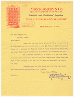 Montgomery & Co., letter