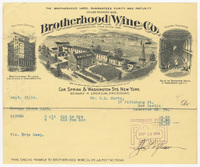 Brotherhood Wine Co., bill or receipt