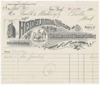 Heidelberg, Wolff & Co., bill or receipt