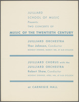Two Concerts of Music of the Twentieth Century, front cover
