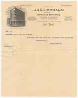 J.&G. Lippmann, letter