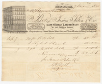 James Paton & Co. Bill or receipt