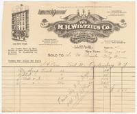 M. H. Wiltzius Co., bill or receipt