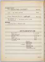 Boor: piano reduction, cast list